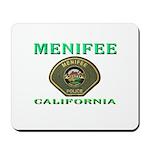 Menifee California Police Mousepad