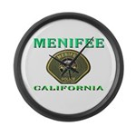 Menifee California Police Large Wall Clock