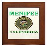 Menifee California Police Framed Tile
