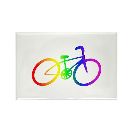 Biking Rectangle Magnet