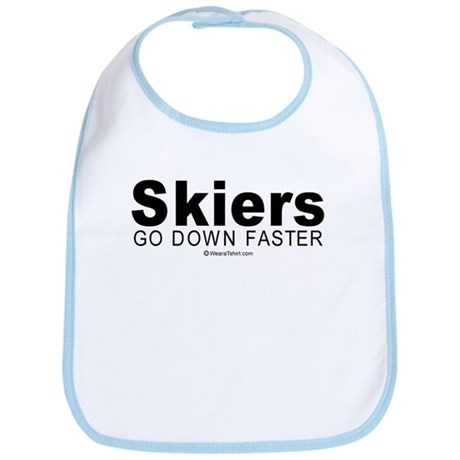 Skiers go down faster - Bib