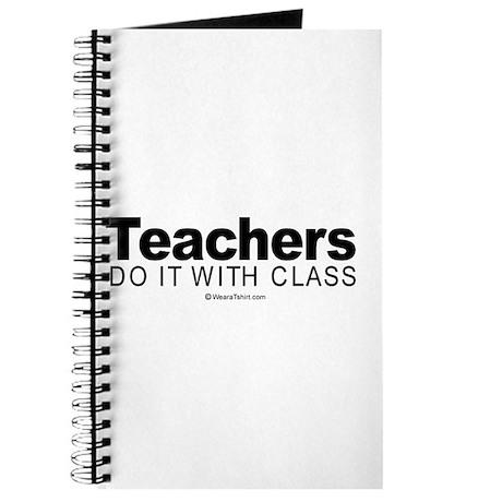 Teachers do it with class - Journal