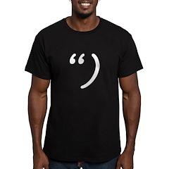Snark on Black Men's Fitted T-Shirt (dark)