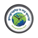 'Geography is my World' Wall Clock