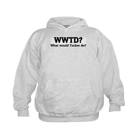 What would Tucker do? Kids Hoodie