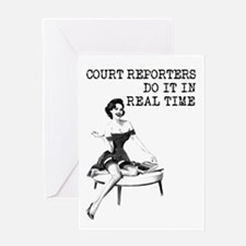 Court Reporter Swag! Greeting Card