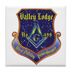 Valley Lodge Crest Custom Tile Coaster