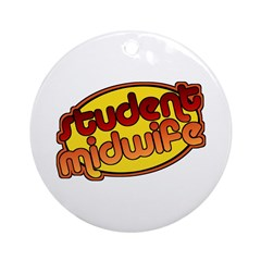 Student Midwife (bright) Ornament (Round)