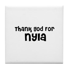 Thank God For Nyla Tile Coaster