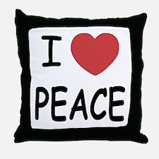 I heart peace Throw Pillow