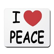 I heart peace Mousepad