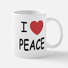 I heart peace Mug