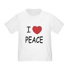 I heart peace T