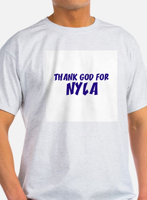 Thank God For Nyla Ash Grey T-Shirt
