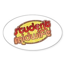 Student Midwife (faded) Oval Decal