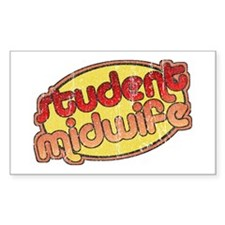 Student Midwife (faded) Rectangle Decal