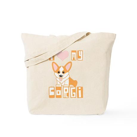 I Love My Corgi Tote Bag