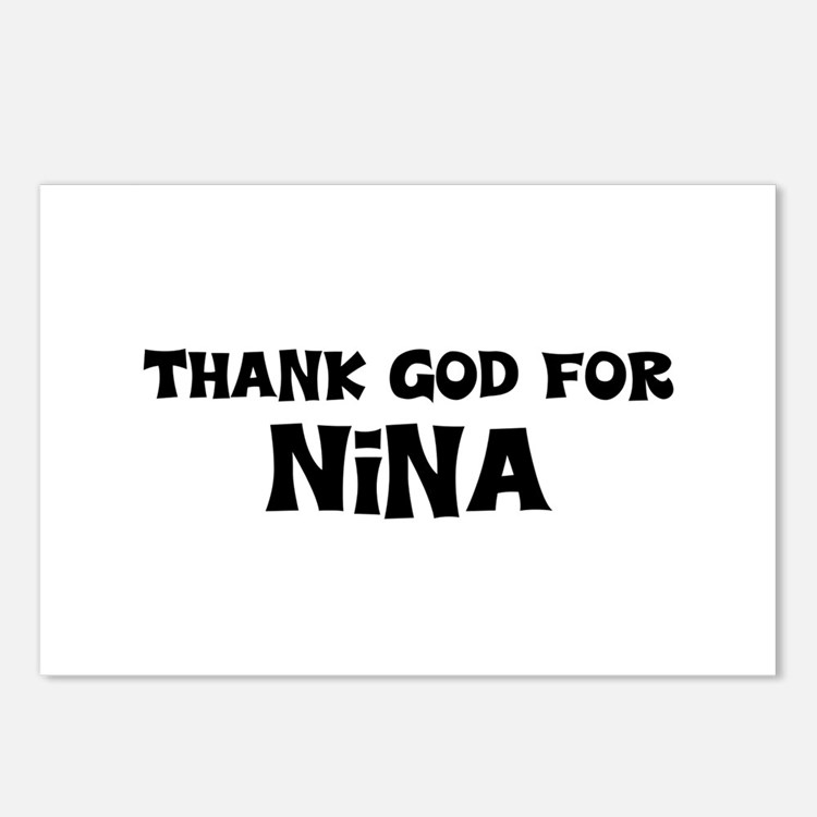 Thank God For Nina Postcards (Package of 8)