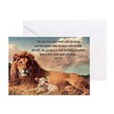 Lion and lamb Greeting Cards (20 Pack)