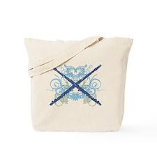 Grunge Music Flute Tote Bag