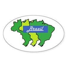 Brazil map in style Decal