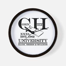 Cornhole University - Bags, B Wall Clock