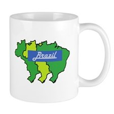 Brazil map in style Mug