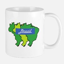 Brazil map in style Mug