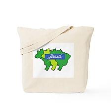 Brazil map in style Tote Bag