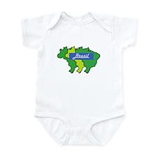 Brazil map in style Infant Bodysuit