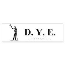 DYE Bumper Bumper Sticker