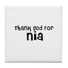 Thank God For Nia Tile Coaster
