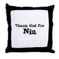 Thank God For Nia Throw Pillow