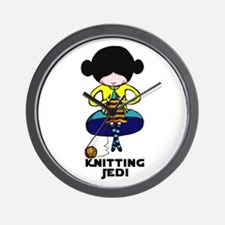 Knitting Jedi Wall Clock