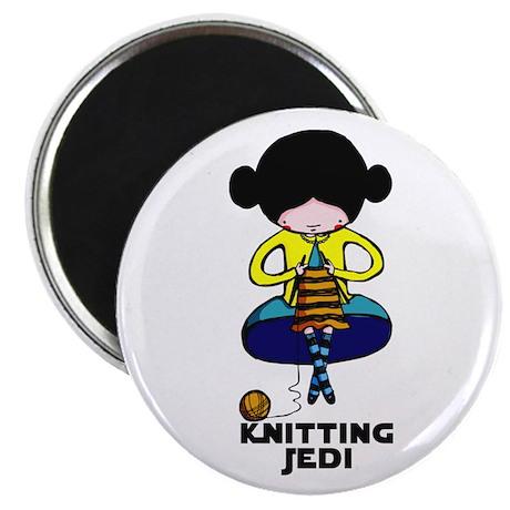 "Knitting Jedi 2.25"" Magnet (10 pack)"