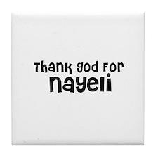 Thank God For Nayeli Tile Coaster
