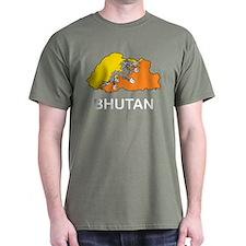 Map Of Bhutan T-Shirt