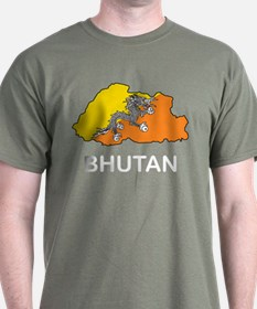 Map Of Bhutan T-Shirt