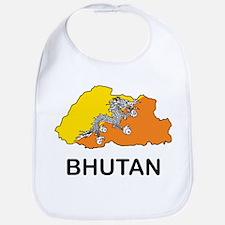 Map Of Bhutan Bib