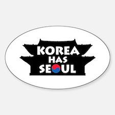 Korea Has Seoul Sticker (Oval)