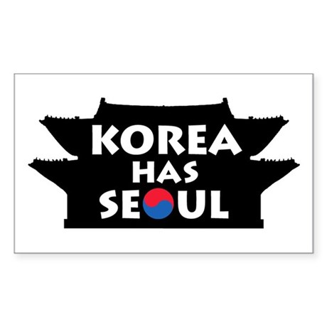 Korea Has Seoul Sticker (Rectangle)