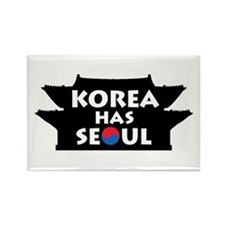 Korea Has Seoul Rectangle Magnet