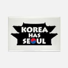 Korea Has Seoul Rectangle Magnet