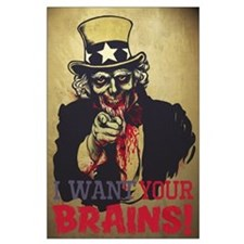 Zombie Uncle Sam Large Poster