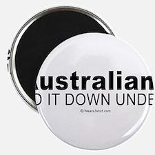 """Australians do it down under - 2.25"""" Magnet (10 p"""