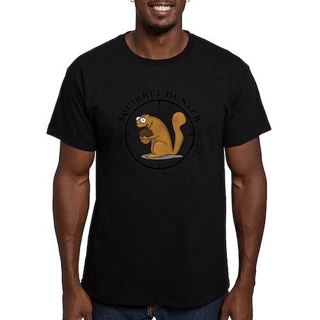 Squirrel Hunter Men's Fitted T-Shirt (dark)