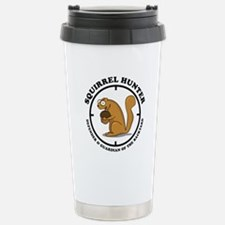 Squirrel Hunter Stainless Steel Travel Mug