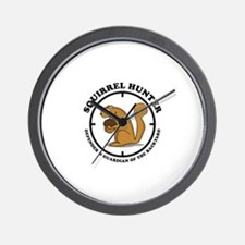 Squirrel Hunter Wall Clock