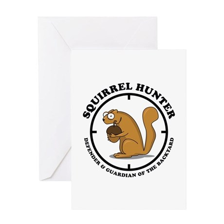 Squirrel Hunter Greeting Card