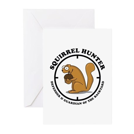 Squirrel Hunter Greeting Cards (Pk of 10)